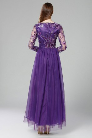 Discount Long Sleeves Lace Evening Gown Formal Dresses TCDBF2011