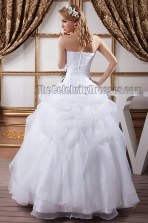 Discount Floor Length Strapless Ball Gown Wedding Dresses