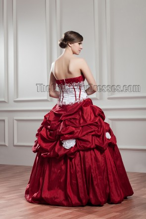 Floor Length Sweetheart Strapless Ball Gown Wedding Dress