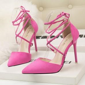 Fuchsia Women's Stiletto Heels Pointed Toe Shoes