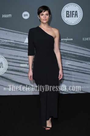 Gemma Arterton Black One-shoulder Evening Prom Gown British Independent Film Awards  6