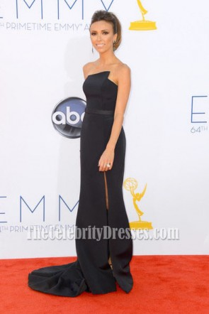 Giuliana Rancic noir Mermaid Formal Dress 2012 Emmy Awards tapis rouge