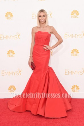 Giuliana Rancic Red Formal Dress 66th Annual Primetime Emmy Awards Red Carpet