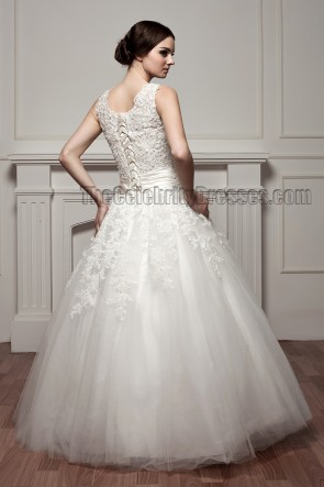 Gorgeous Floor Length Ball Gown Lace Up Wedding Dresses
