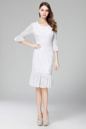 Gorgeous Knee Length Cocktail Party Wedding Guest Summer Dresses