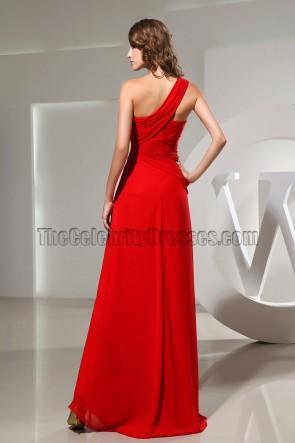 Red Sweetheart One Shoulder Prom Dress Evening Formal Dresses