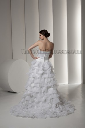 Gorgeous Strapless A-Line Ruffles Wedding Dresses