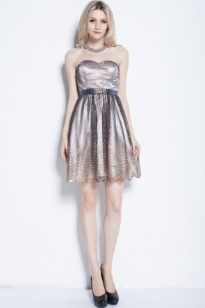 Gorgeous Strapless Sweetheart A-Line Homecoming Party Dress