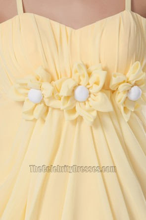 Gorgeous Yellow Chiffon Party Homecoming Dresses