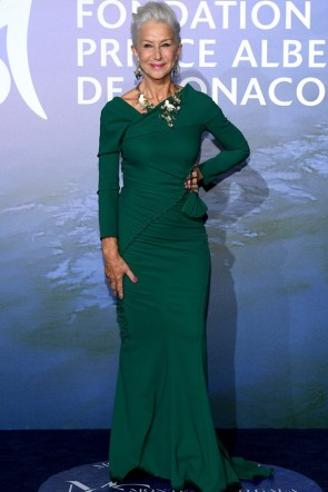 Helen Mirren Dark Green Mermaid Formal Dress