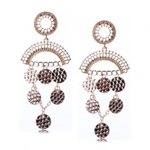 Hot Sale Vintage Wafer Tassel Drop Earrings TCDE0046