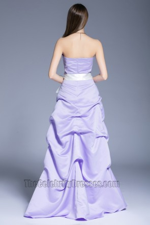 New Fashion Purple Evening Dress Party Sweet Strapless Ball Evening Gown TCDBF5025