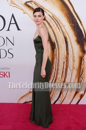 Jacquelyn Jablonski spaghetti Straps Soirée Prom Gown 2016 CFDA Fashion Awards