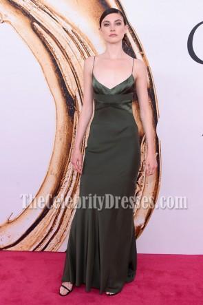 Jacquelyn Jablonski Spaghetti Straps Evening Prom Gown 2016 CFDA Fashion Awards 3