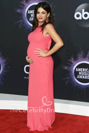 Jenna Dewan Pink Maternity Formal Dress 2019 American Music Awards TCD8780