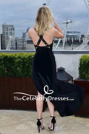 Jennifer Lawrence - Sweetheart décolleté plongeant en mousseline de soie fendue à la cuisse rouge