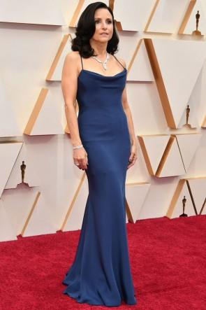 Julia Louis-Dreyfus Navy Blue Mermaid Evening Dress 2020 Oscars