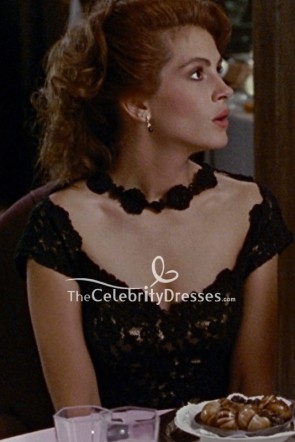 Julia Roberts Black Lace Cocktail Dress In Movie Pretty Women