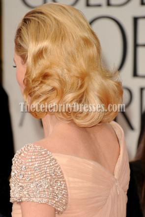 Robe formelle de robe de bal de Champagne de Julie Bowen 69e Golden Globe Awards annuels