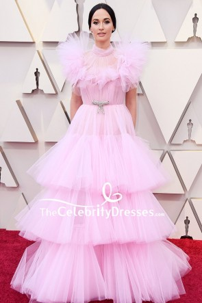 Kacey Musgraves Pink Ball Gown Oscars 2019 Red Carpet