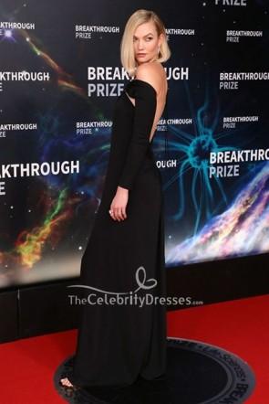 Karlie Kloss Black Long Sleeves Dress 2020 Breakthrough Prize  TCD8754