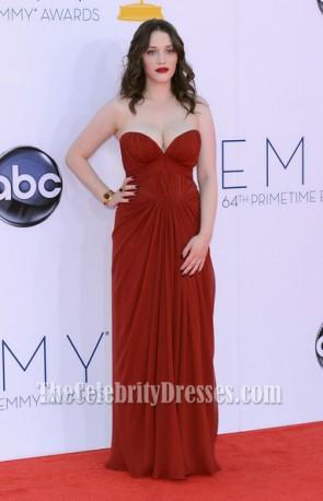 Kat Dennings Chiffon Formal Dress 2012 Emmy Awards Red Carpet