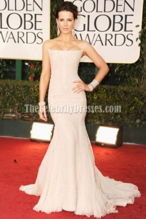 Kate Beckinsale Strapless Mermaid Prom Gown Formal Dress 2012 Golden Globes Red Carpet
