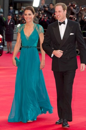 Kate Middleton Prom Dress London Olympic gala Formal Gown