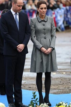Kate Middleton Gray Shirt Dress