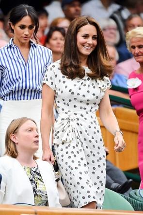 Kate Middleton Short Sleeves Print Summer Dress