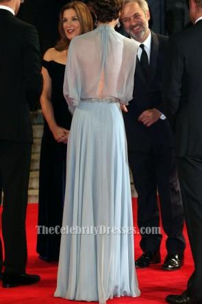 Kate Middleton ciel bleu robe de soirée SPECTER London Premiere