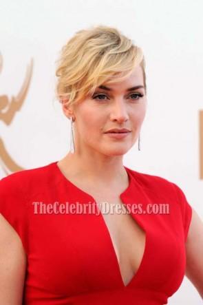 Kate Winslet Robe rouge robe de bal formelle 63e Primetime Emmy Awards 2011 Red Carpet