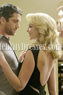 Katherine Heigl robe de cocktail noire dans «The Ugly Truth» Celebrity Robes de bal