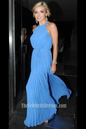 KATHERINE JENKINS Robe de bal en mousseline bleue Arqiva Radio Awards 2012