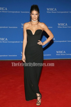Kendall Jenner Black Strapless Backless Red Carpet Evening Dress 102nd White House Correspondents' Association Dinner   5