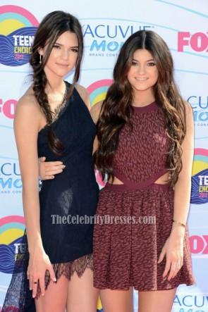 Robe de soirée courte en dentelle Kendall Jenner Teen Choice Award 2012