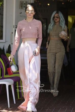 Kendall Jenner Pearl Pink Palazzo Pants 2019