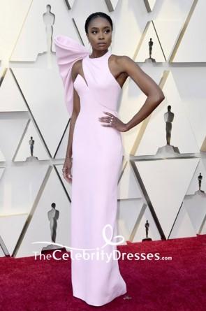 Kiki Layne Pink Open Back Long Evening Dress 2019 Vanity Fair Oscar party