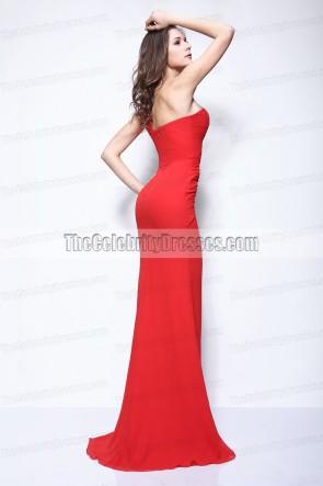 Kim Kardashian rouge une épaule robe de bal LACMA