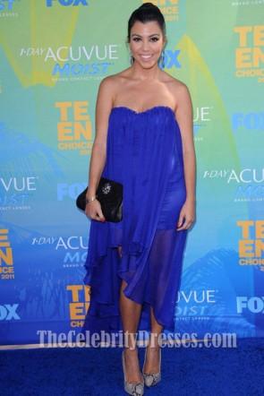 Kourtney Kardashian Royal Blue Prom Dress 2011 Teen Choice Award