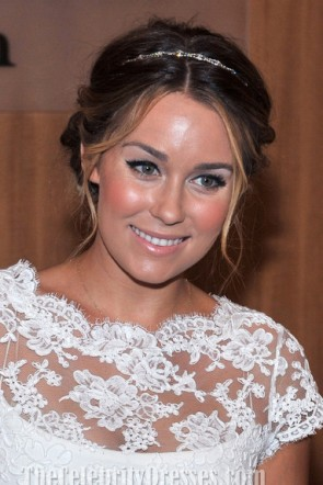 Lauren Conrad courtes robes de cocktail en dentelle blanche