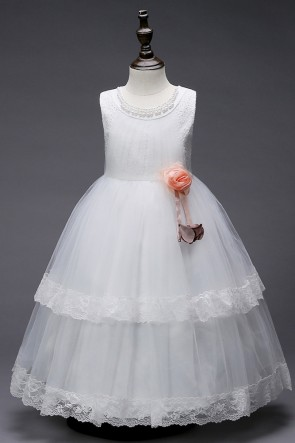 Layered Ruffles Flower Girl Dress