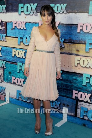 Lea Michele Chiffon Cocktail Dress Fox Summer All-Star Party Dresses
