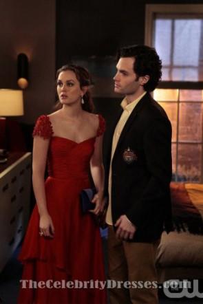 Leighton Meester Red Prom robe de soirée dans Gossip Girl 5