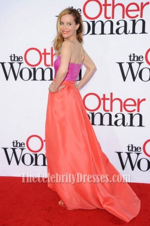 Leslie Mann Two Pieces Prom Dress  'The Other Woman 'premiere