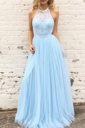 Fabulous Light Sky Blue Sleeveless Bridesmaid Dress