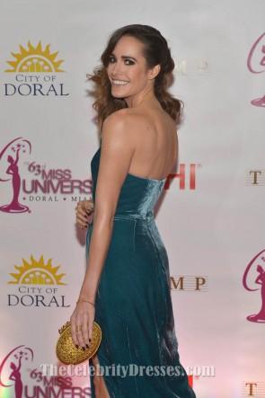 Louise Roe robe de cocktail en velours 63e annuelle Miss Universe Pageant