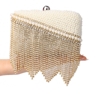 Luxury Pearl Tassel Bag Exquisite Diamond Evening Bag Clutch Bag Ladies Mini Bags TCDBG0071
