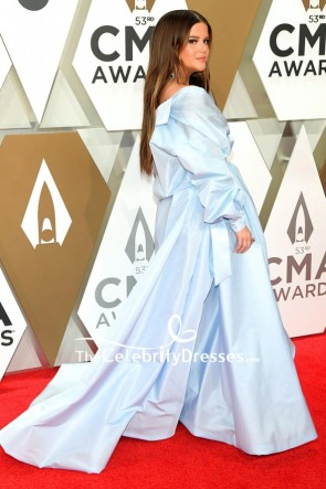 Maren Morris Light Blue Two Pieces Formal Dress 2019 CMA Awards TCD8764