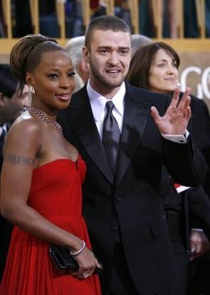 Mary J. Blige robe rouge sans bretelles Golden Globes 2007 robes de célébrités